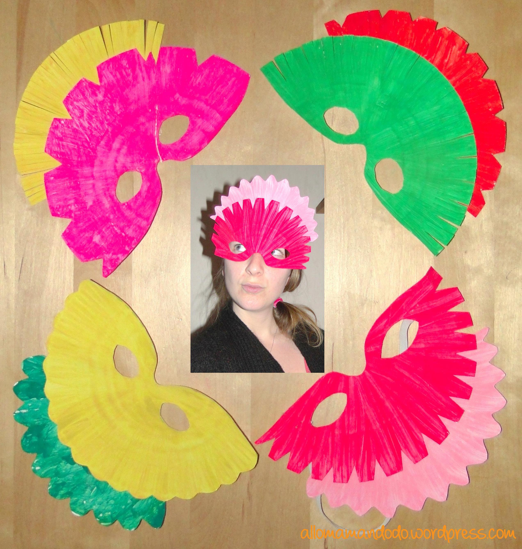 Diy fabrique des masques en carton c 39 est facile tuto - Masque de carnaval a fabriquer ...