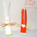 DIY: Le Lapin de Pâques ( à partir de rouleaux de sopalin, ultra facile, rapide et gratuit! )