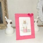 DIY Cadre en tissu (Facile et beau!), un joli cadeau pour les mamans!