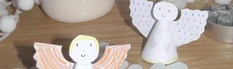 DIY: Les Anges en Papier #Activité de Noël