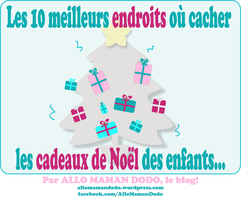 Les 10 endroits o cacher les cadeaux de no l des enfants humour allo mam - Les meilleurs cadeaux de noel ...