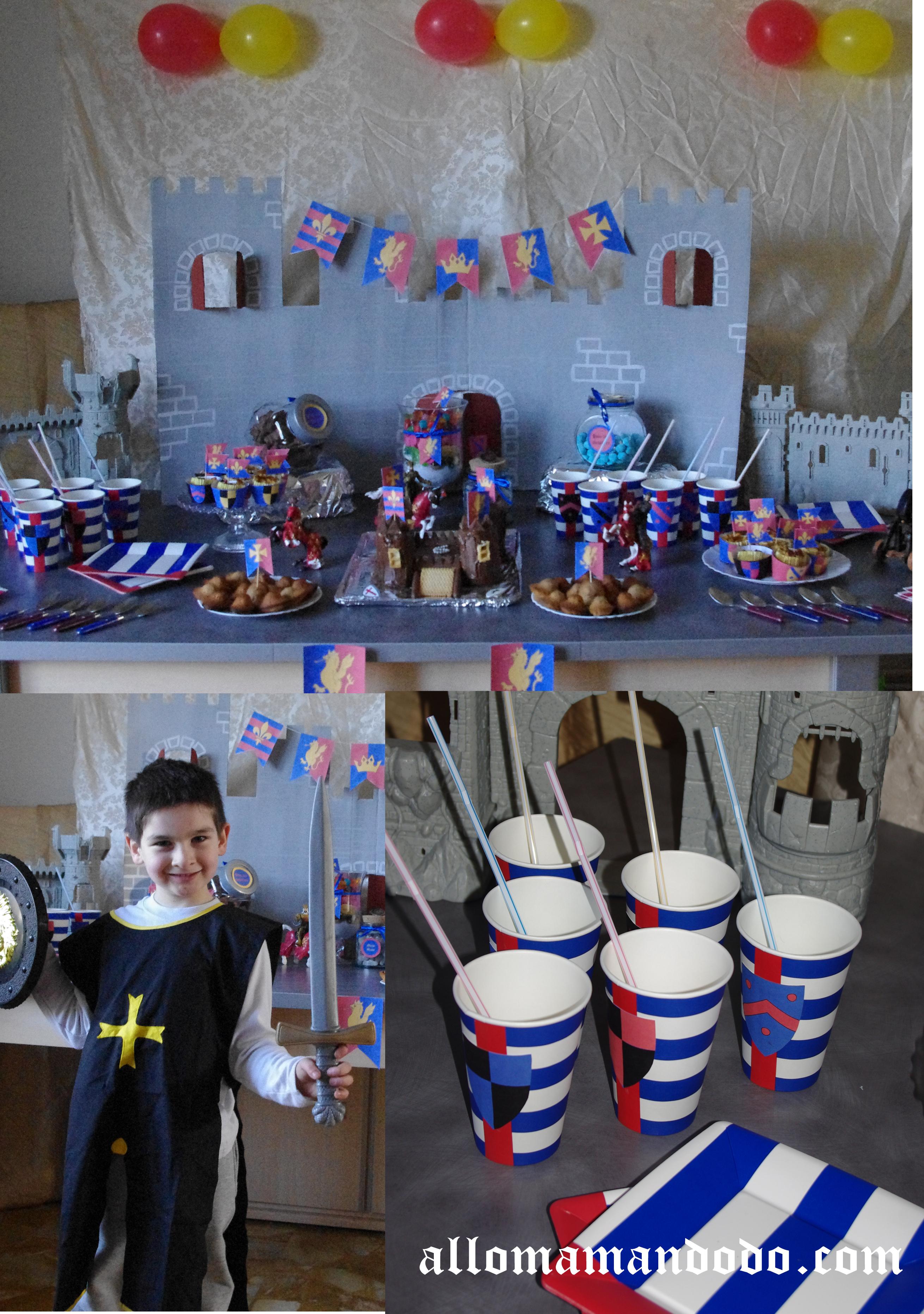 Sweet table déco anniversaire chevalier 3