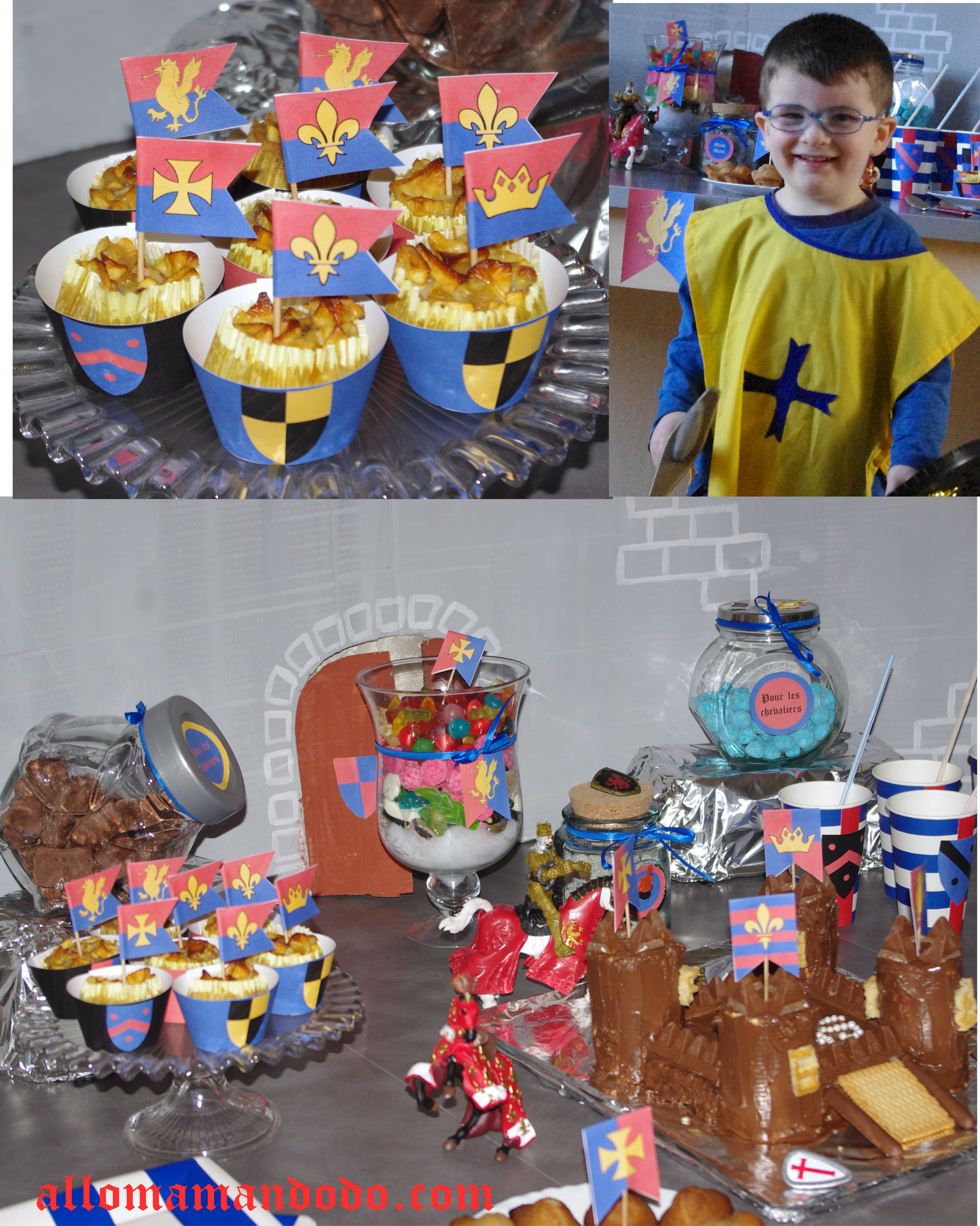 Sweet table déco anniversaire chevalier 4
