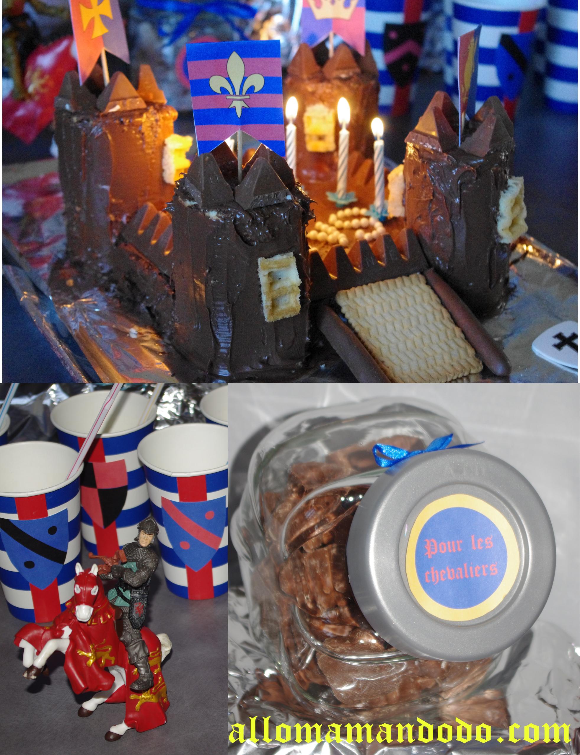 Sweet table déco anniversaire chevalier 5