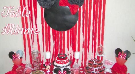 Un anniversaire Minnie (La décoration de la Sweet Table de PtitePomme)