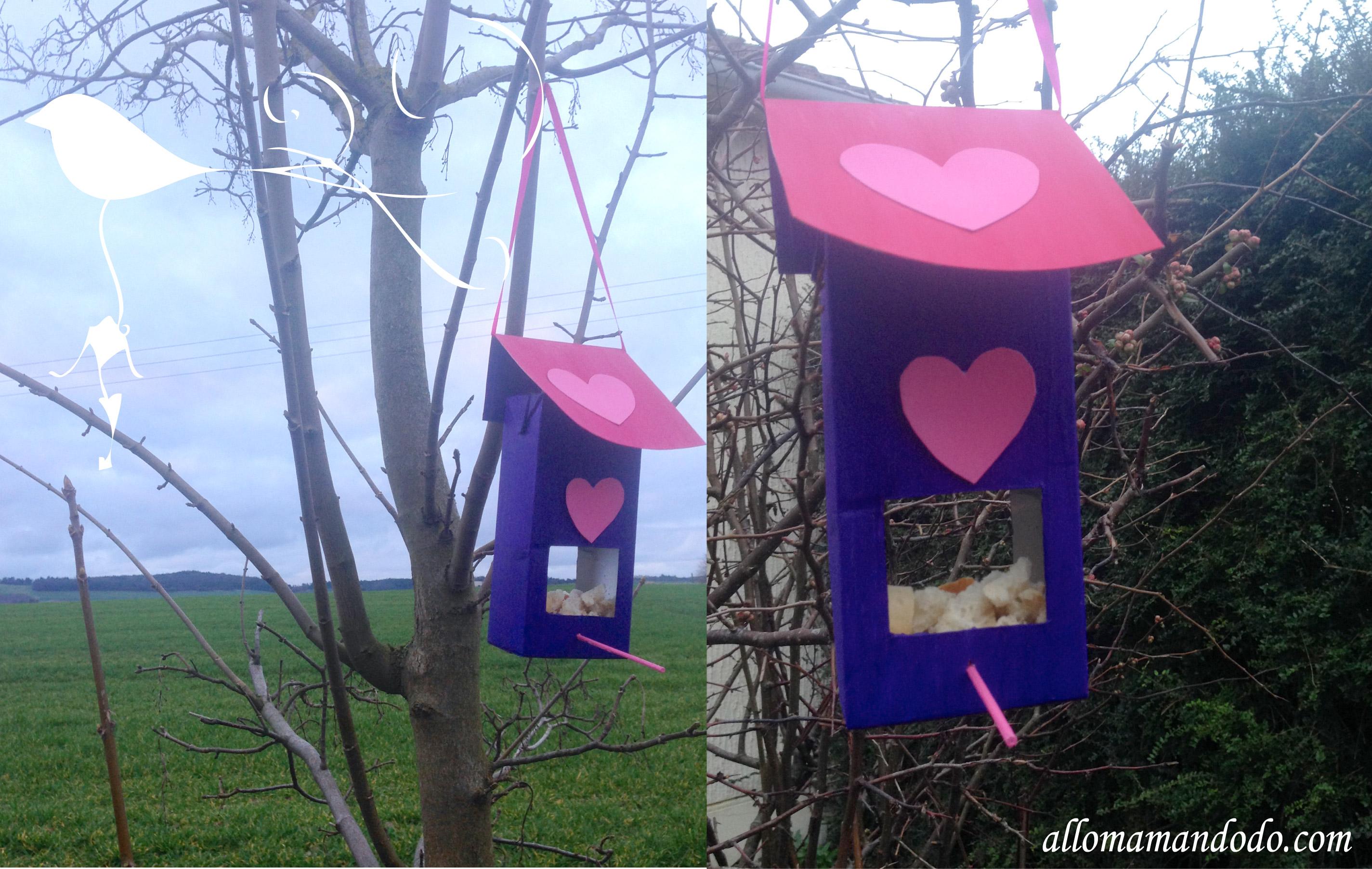 Diy une cabane oiseau base de brique de lait allo maman dodo for Comfabriquer cabane oiseau