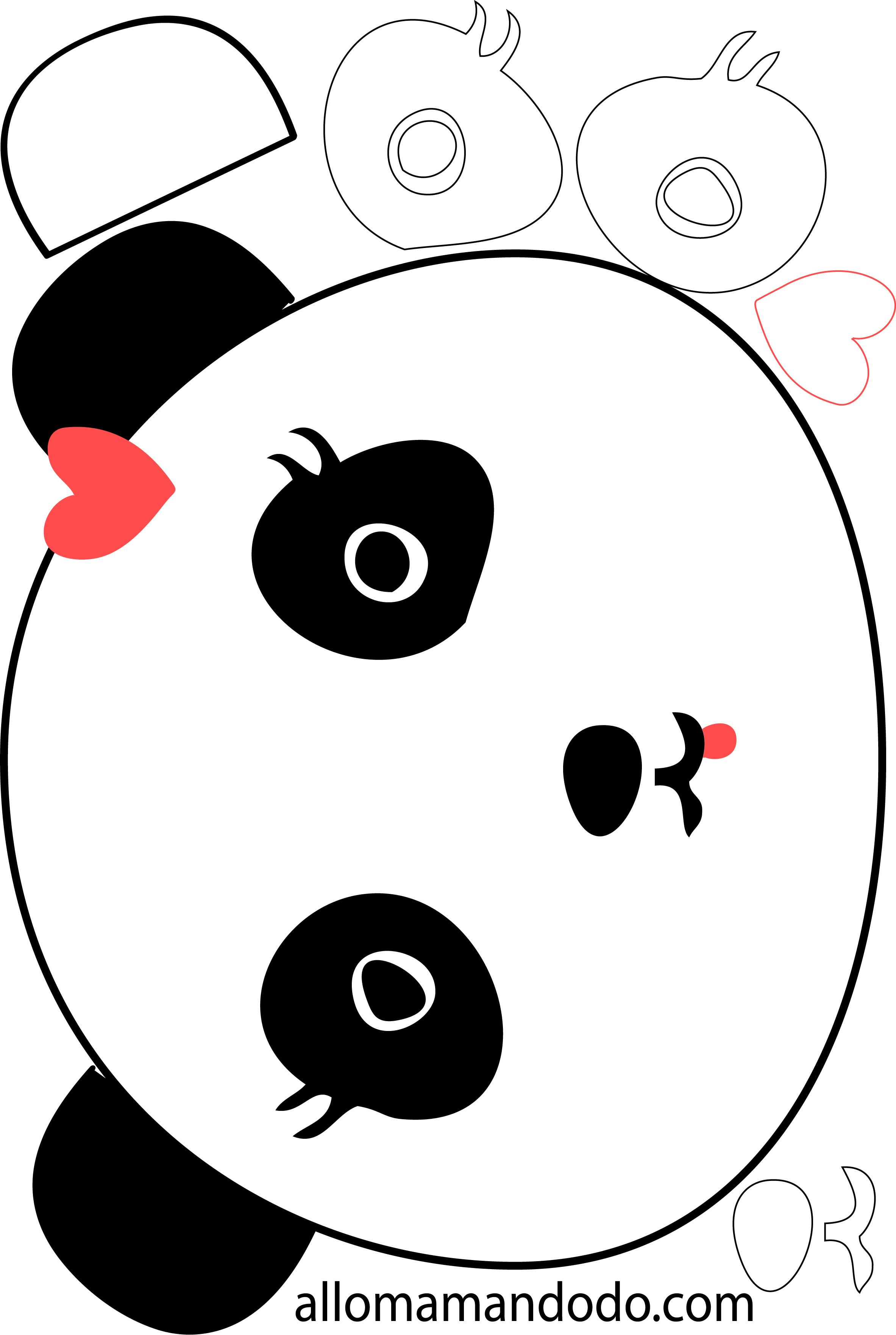 Diy tuto en photo le g teau panda allo maman dodo - Tete de panda dessin ...