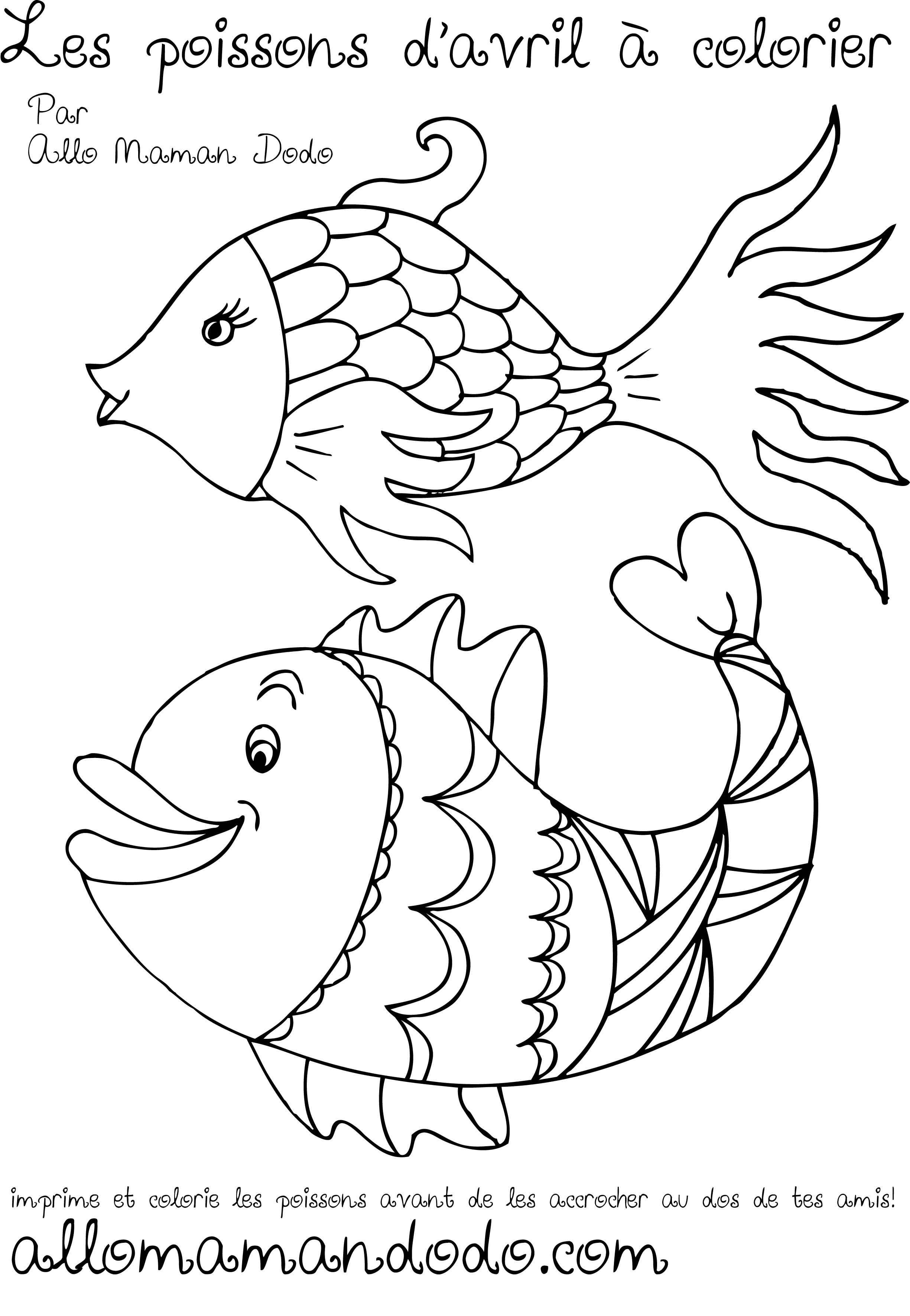 Des poissons imprimer colorier et accrocher poisson - Image de poisson a imprimer ...