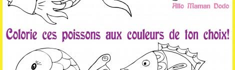 Des poissons à imprimer, colorier, et accrocher! (Poisson d'avril!)