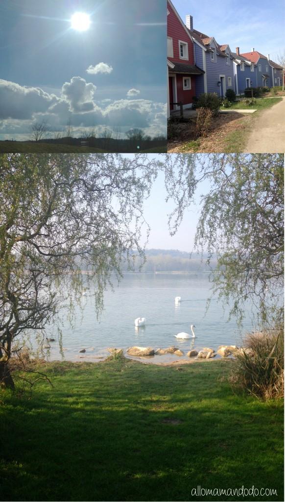 paysage lac de l'ailette aisne center parc