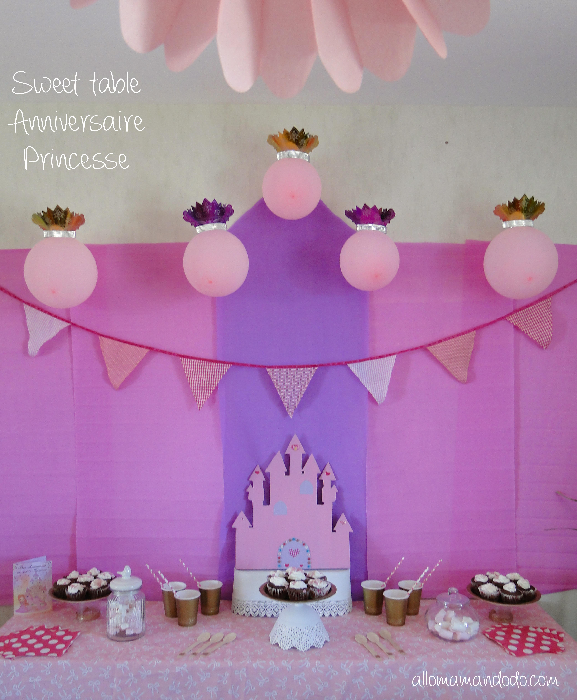 sweet table déco princesse anniversaire