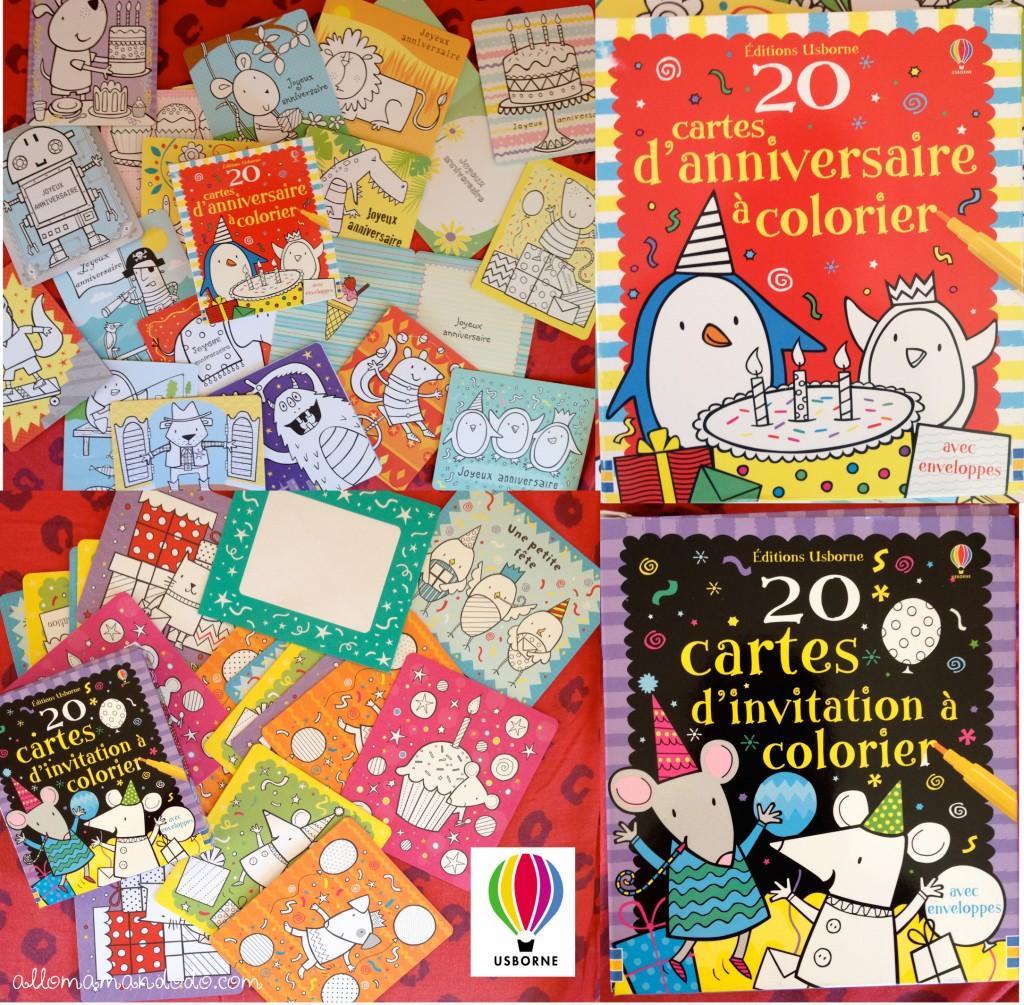 usborne livres invitations cartes anniversaire