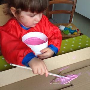 peinture enfant 2 ans