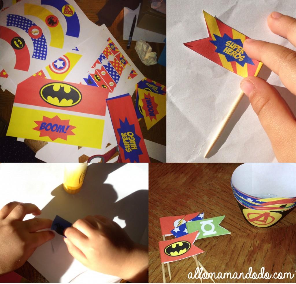 décoration super héros batman