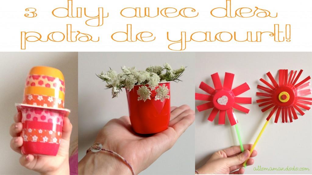 3 diy faciles et rapides pour les enfants avec des pots de yaourt allo mam - Diy facile et rapide ...