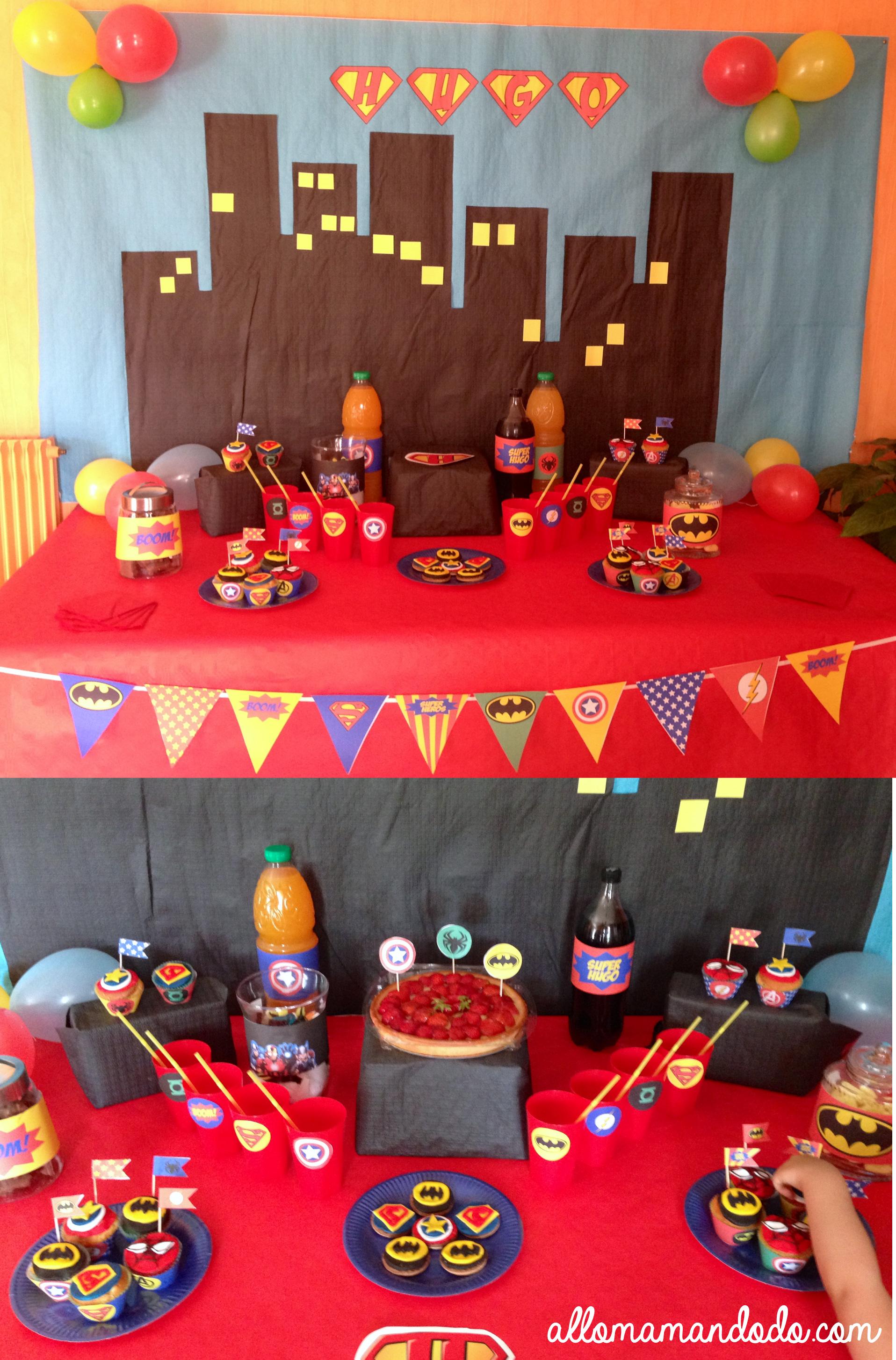 Un anniversaire de super h ros d co sweet table kit - Decoration spiderman pour anniversaire ...