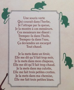 Les paroles de comptines traductions des double sens et autres allusions coquines allo - Une souris verte singe ...