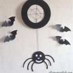 Tuto/DIY d'Halloween: L'araignée (à base d'assiette en carton)