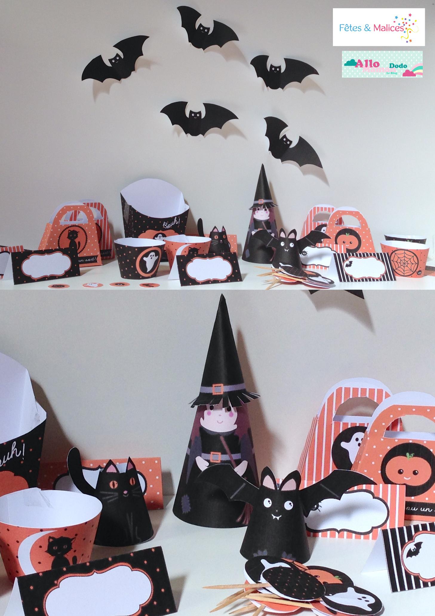 kit d co d 39 halloween imprimer printable sweet table. Black Bedroom Furniture Sets. Home Design Ideas