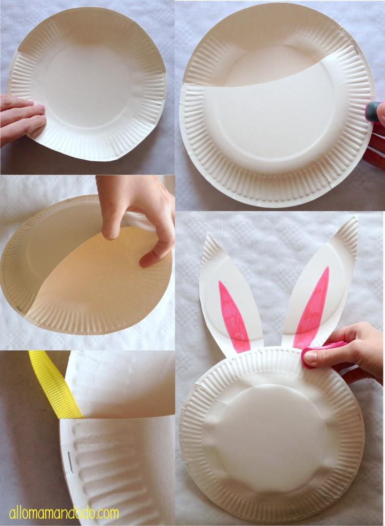 Diy petit sac lapin de p ques avec des assiettes en for Cuillere pour decorer les assiettes