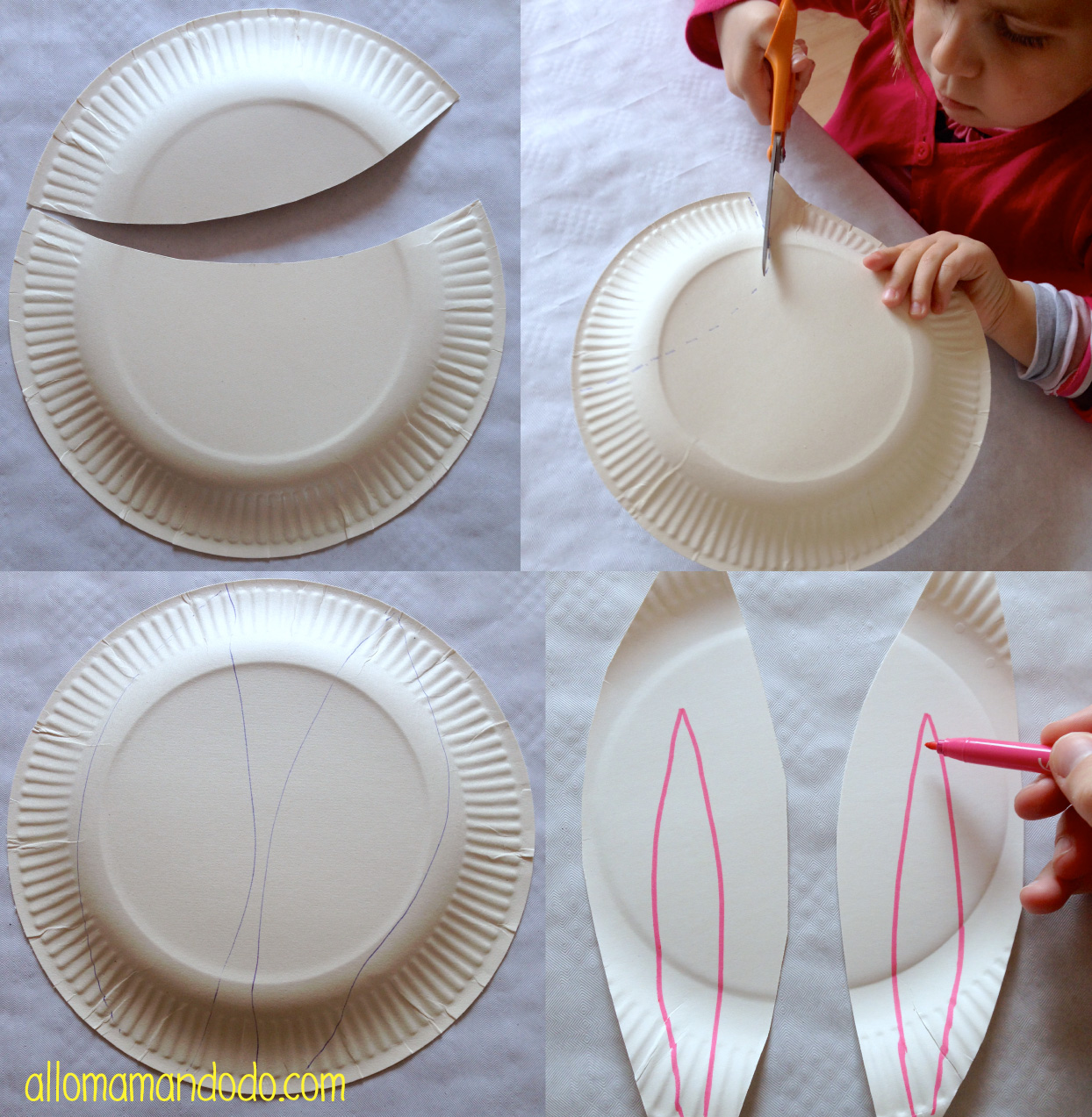 diy petit sac lapin de p ques avec des assiettes en carton allo maman dodo. Black Bedroom Furniture Sets. Home Design Ideas