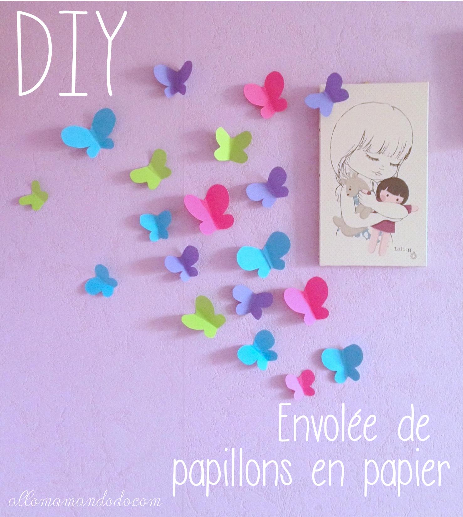 diy envol e de papillons en papier activit pour enfants. Black Bedroom Furniture Sets. Home Design Ideas