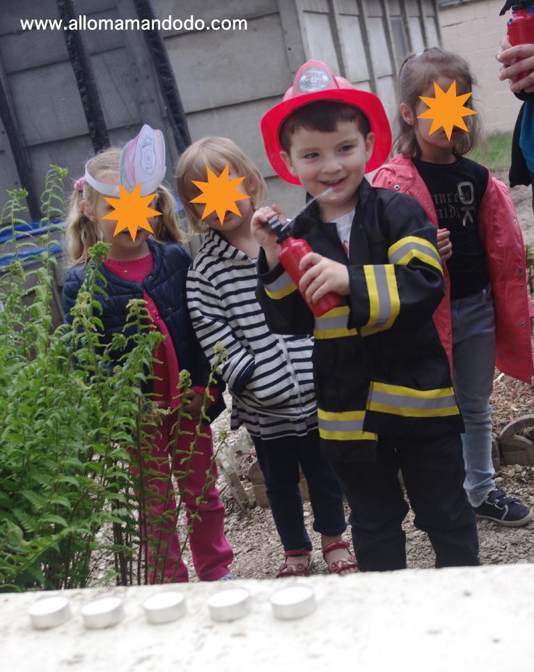 jeu thème pompier birthday game