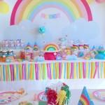 La Sweet Table Déco d'anniversaire «Arc-en-Ciel»: Les photos!