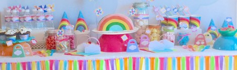 """La Sweet Table Déco d'anniversaire """"Arc-en-Ciel"""": Les photos!"""