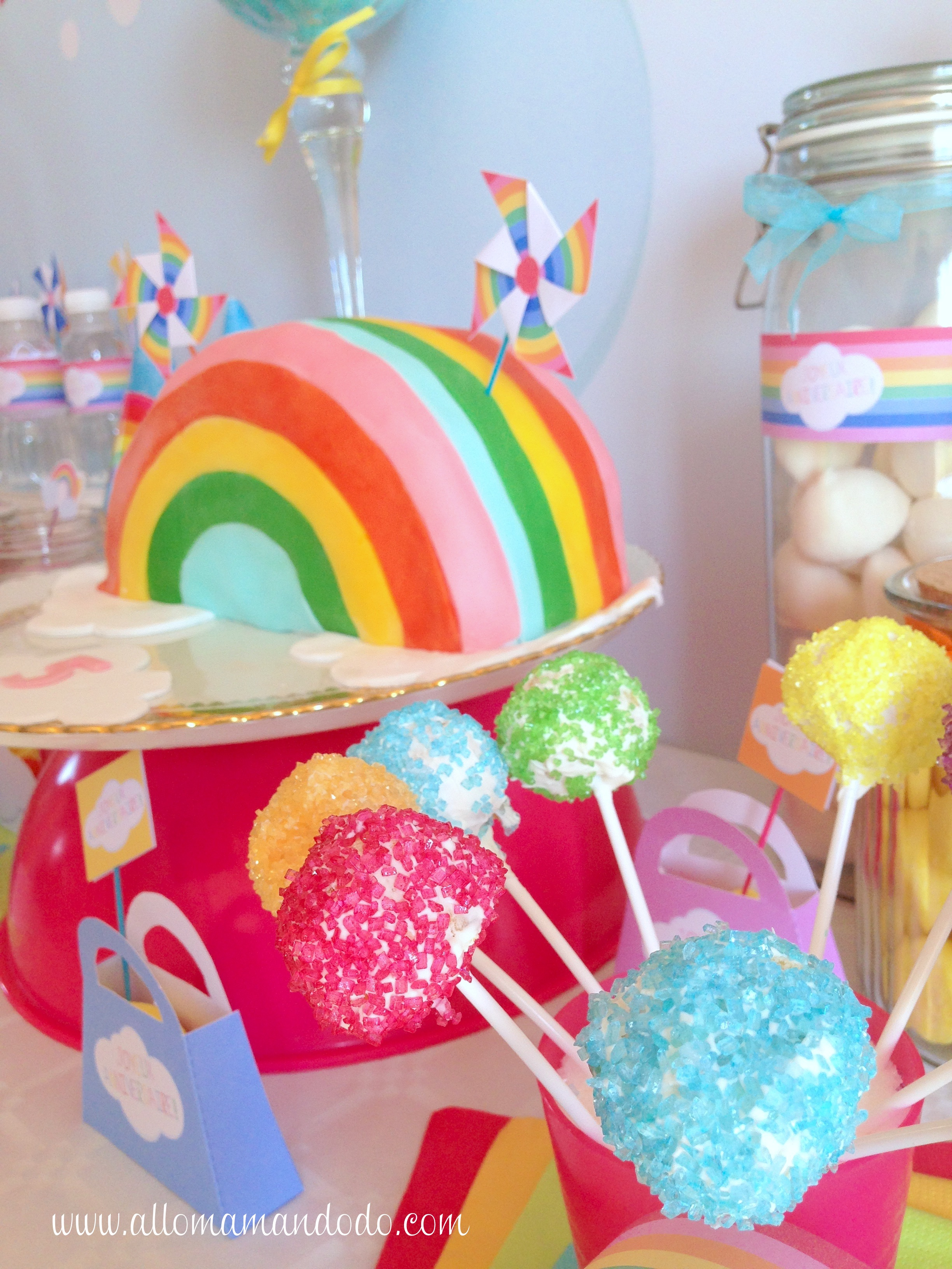 La Sweet Table D Co D 39 Anniversaire Arc En Ciel Les Photos Allo Maman Dodo