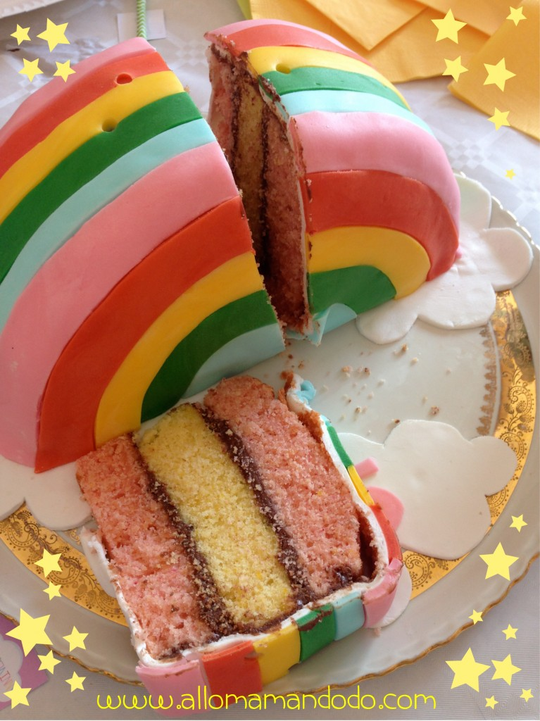 arc en ciel gateau rainbow cake