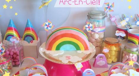 Le gâteau d'anniversaire Arc-En-Ciel #RainbowCake #DIY