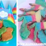 Recettes pour anniversaire arc en ciel: Les cake pops, et les sablés licorne et cupcakes multicolores!