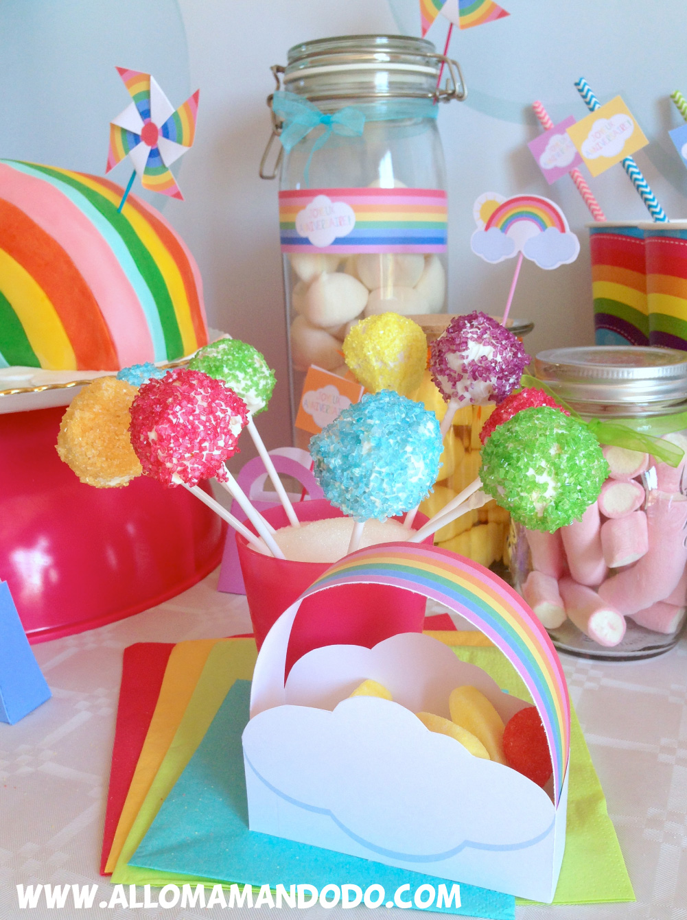 Recettes Pour Anniversaire Arc En Ciel Les Cake Pops Et