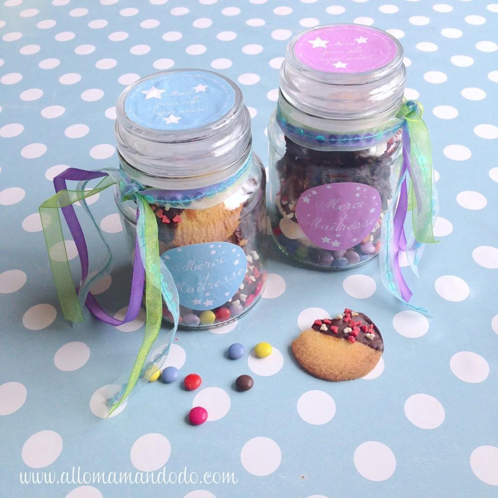 pots chocolats biscuits