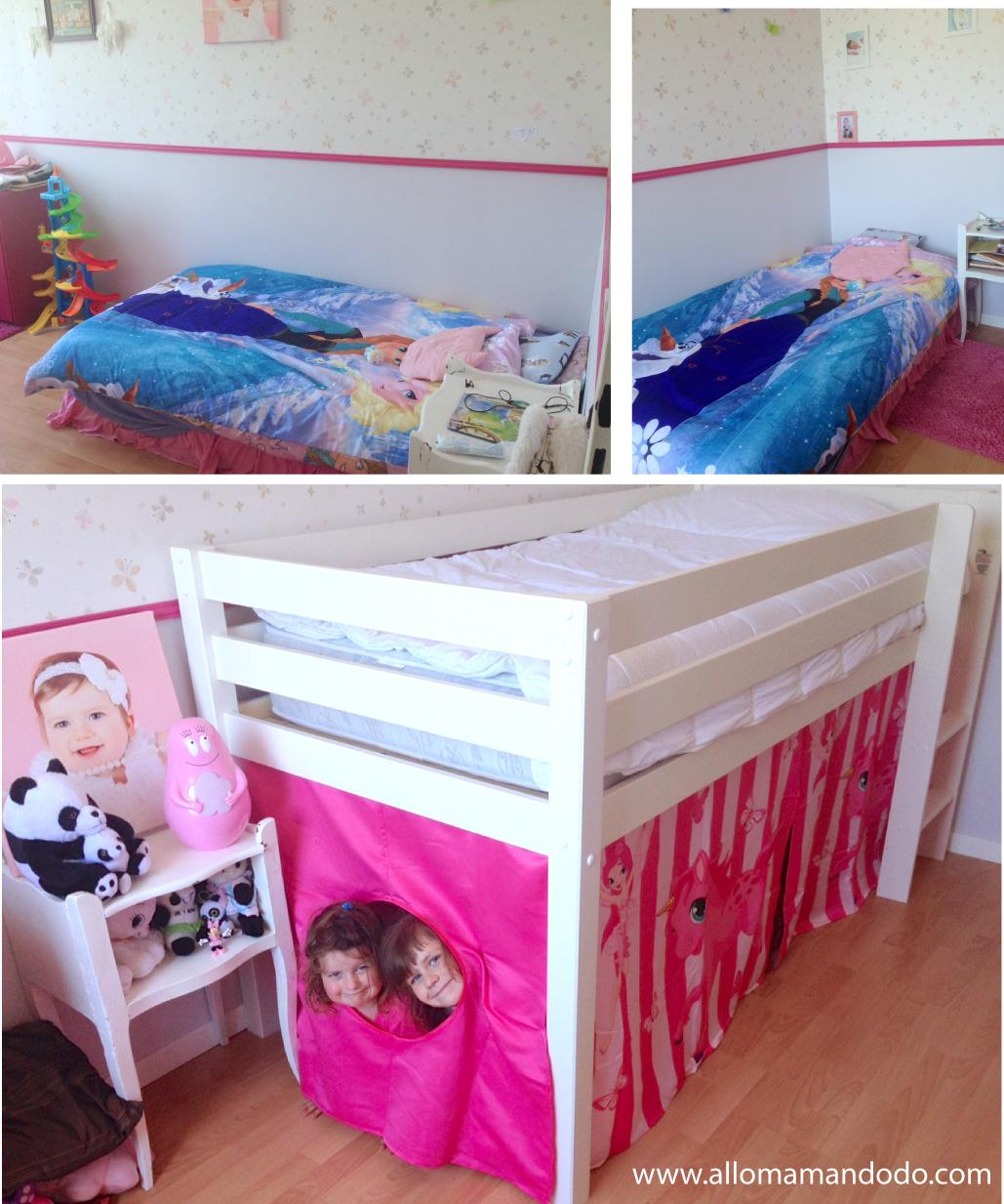 le lit mi hauteur de ptitepomme photos avant apr s bonne id e allo maman dodo. Black Bedroom Furniture Sets. Home Design Ideas