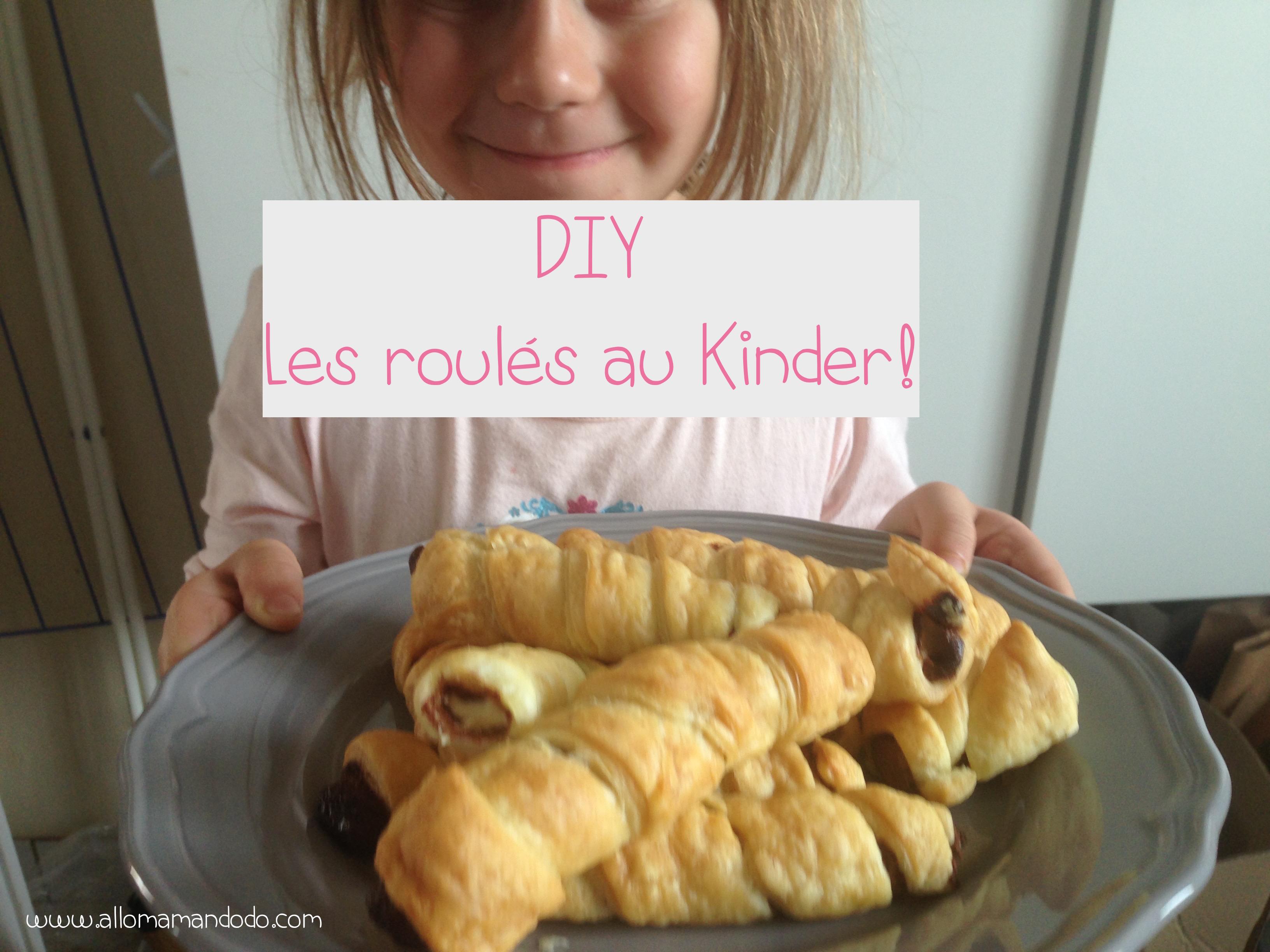 #DIY Cuisine: Des roulés au Kinder pour le goûter! (En photos et vidéo!)