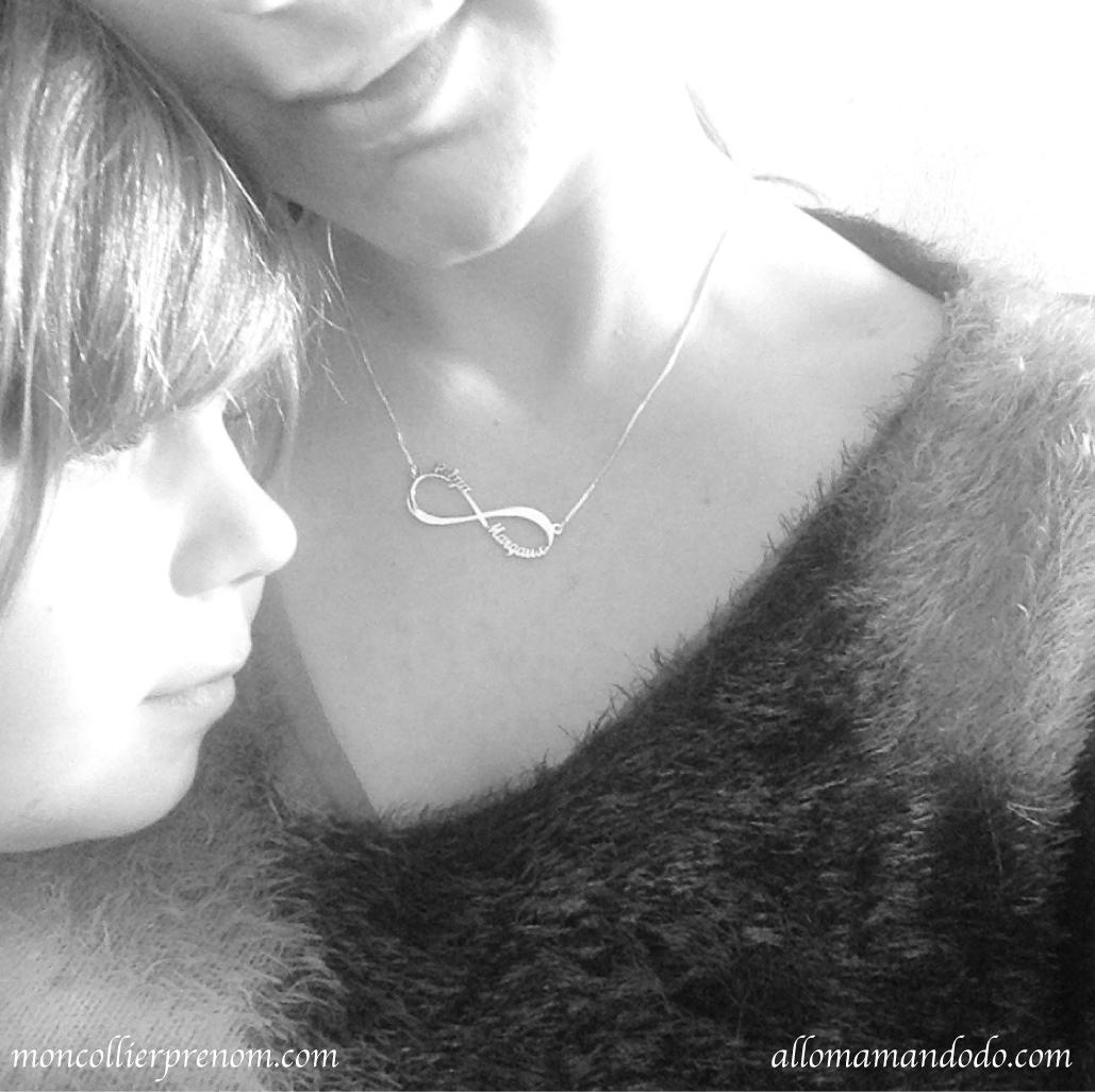 """Mon collier prénom pour te dire """"Je t'aime à l'infini""""! (+ Code Promo!)"""