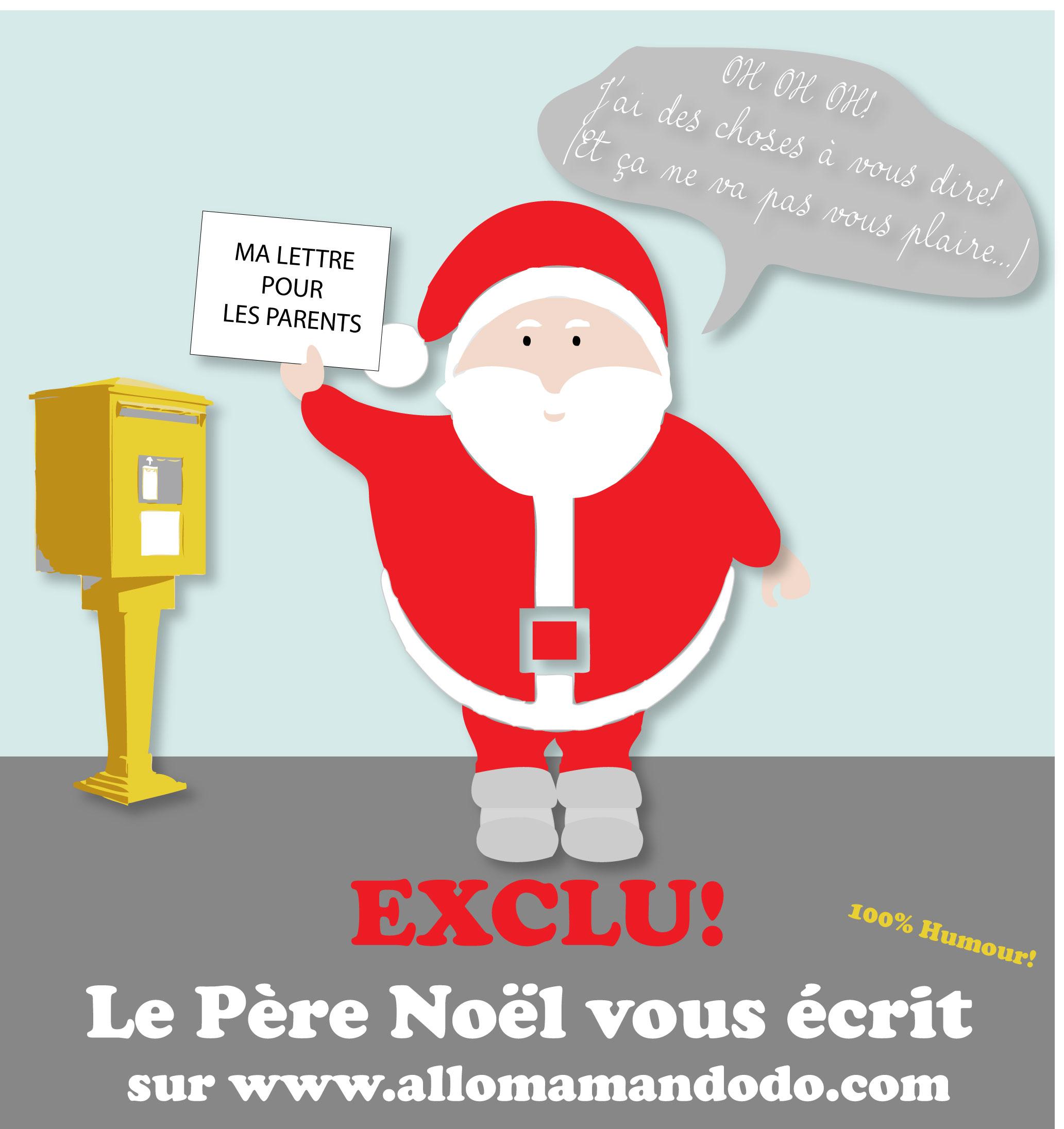 ceb98c076c37 Lettre au pere noel humour   Brassline