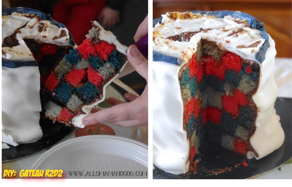 gâteau damier interieur