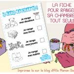 Range Ta Chambre !!! (Fiche Astuce Pour Que Ton Enfant Range TOUT SEUL!)