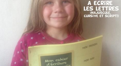 Le cahier d'écriture de maternelle à télécharger ( Gratuit! )