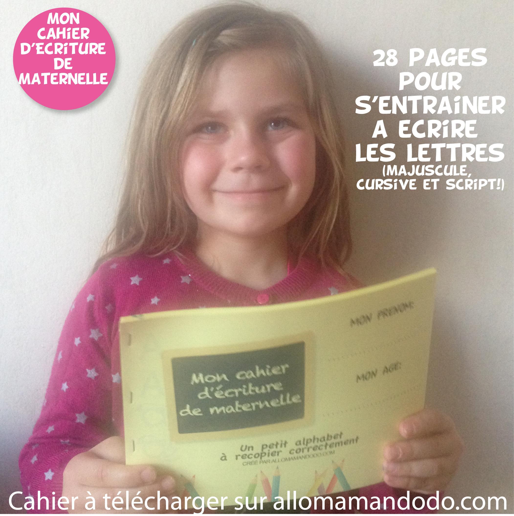 Le Cahier D Ecriture De Maternelle A Telecharger Gratuit Allo