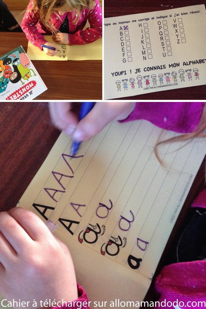 exercice lettre alphabet