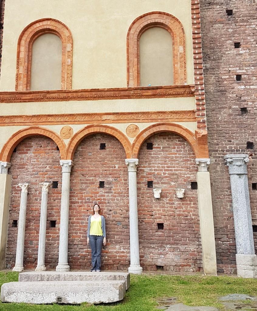 milan chateau fort colonnes visite