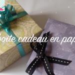 DIY: Origami Boite Cadeau en Papier!