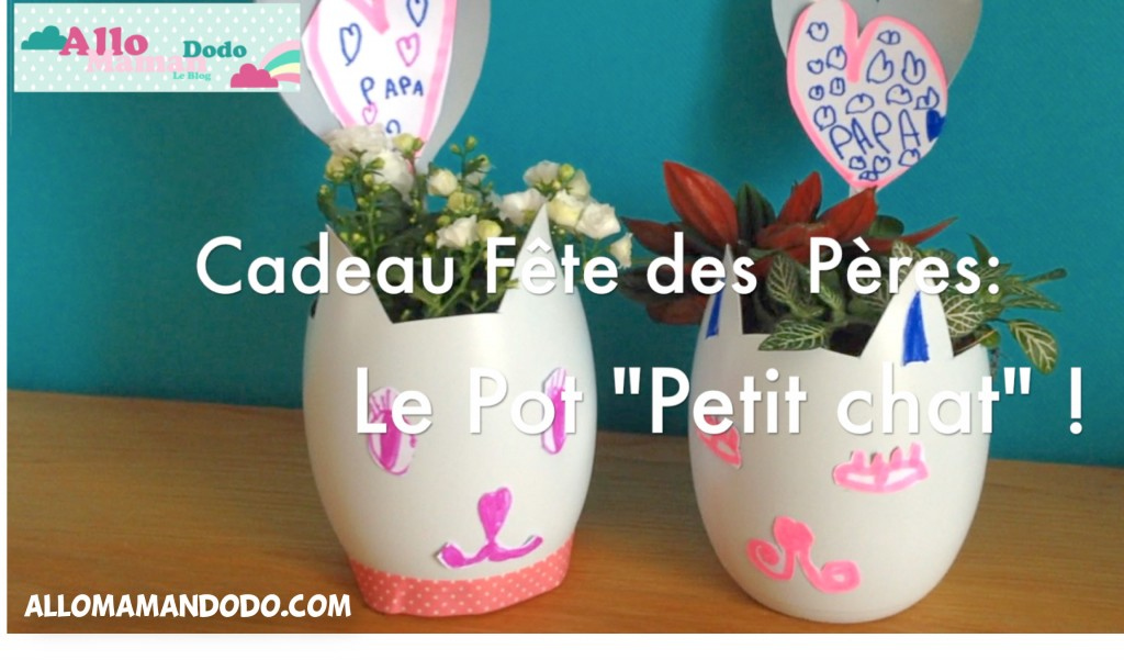 diy cadeau f te des p res le pot petit chat pour papa. Black Bedroom Furniture Sets. Home Design Ideas