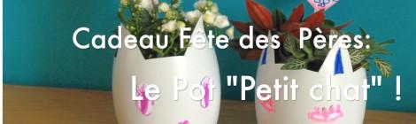 """DIY cadeau fête des pères: Le pot """"Petit Chat"""" pour papa! #Bledinafetelespapas"""