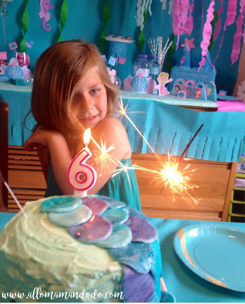 gateau sirene anniversaire fille
