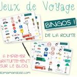 Les Occuper en Voiture: Jeux de Voyage «bingo de la route» à imprimer!